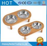Tazones de fuente de bambú del perro de la alta calidad
