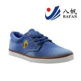 Zapatos ocasionales superiores lavados de los hombres del dril de algodón