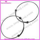 Ijb0459 Bracelet en fil expansible brillant Bracelet en acier inoxydable pour femmes