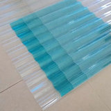 Ясные и покрашенные листы толя поликарбоната Corrugated пластичные для парника