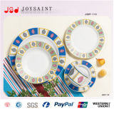 18PCS Decal Porcelana Square Shape Food Plate Use para Home Hotel