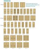 Forces de défense principale blanches intérieures 2 en bois de placage porte de panneau 4 6