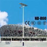 6m 전등 기둥 12V 30~80ah 리튬 건전지 세륨 증명서를 가진 태양 가로등