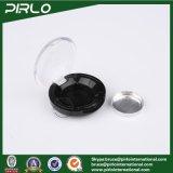 vasi allentati di plastica della polvere del vaso 1g della polvere cosmetica di plastica nera di trucco con la protezione libera della parte superiore di vibrazione