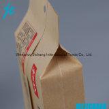 Печатание Selfheat мешка еды пакуя мешок Kraft плоского дна бумажный