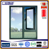 Binnenkomend het Openen van de Schommeling Openslaand raam met de Aangemaakte Beklede Openslaand ramen van het Glas/van het Aluminium