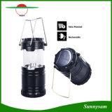 Type portatif bivouac campant rechargeable à énergie solaire de prolonge d'éclairage extérieur de lanterne augmentant la lampe légère campante de DEL