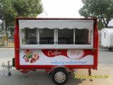 Carro móvil del Crepe del alimento de la alta calidad