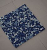 Neues aufgeteiltes gemeinsames Seeblaue natürliche Mosaik-Glasfliese des Entwurfs-2017