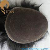 自然なヘアラインスイスのレースの人間の毛髪の置換の毛システム