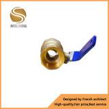Válvula de bola de latón de alta calidad Dn32 Hilo hembra hembra