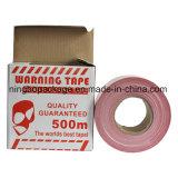 PEの赤くおよび白いカラーのプラスチック警告テープ