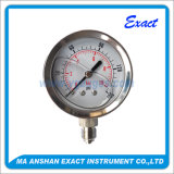 Todo o manómetro enchido do petróleo do aço inoxidável Manómetro-Líquido Manómetro-Hidráulico