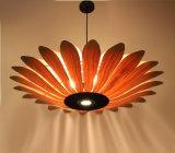 Lámpara ligera pendiente de madera innovadora del techo para el hogar del restaurante del hotel