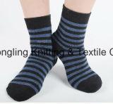 China mept van het Katoenen van de Fabriek de Sokken van de Mensen van de Kleding Embleem van de Douane
