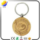 Изготовленный на заказ цепь Engravable круглой формы деревянная ключевая