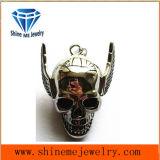 Pendant de crâne de collier de bijou d'acier inoxydable de mode
