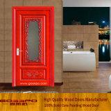 高品質の曇らされたガラスの木の台所ドア(GSP3-012)