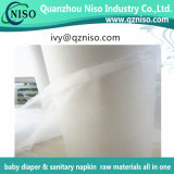 Nonwoven mou de Topsheet pour le Nonwoven hydrophile de matières premières de couche-culotte de bébé