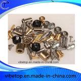 Часть металла низкой цены подвергли механической обработке CNC, котор алюминиевая