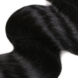 Glücks-Haar Remy Haar-Karosserien-Wellen-peruanische Haar-Menschenhaar-Webart