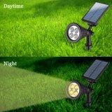 Solarwand-Montierungs-/Landscape-Einlage-Solarlichter des scheinwerfer-2 in-1 justierbare 4 LED mit automatischem AN/AUS-Fühler