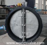 Válvula de verificação dupla da placa do forro inteiramente de borracha