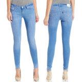 Fabrik-Großhandelsdame-dünne Baumwolljeans-Denim-Jeans