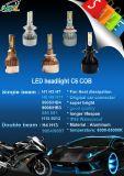 Linterna auto de la motocicleta de los coches de la viruta de la MAZORCA del oro de la linterna C6 H1 del LED