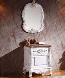 Moderne glatte Farbanstrich-Badezimmer-Eitelkeits-hölzerner Schrank (GSP14-010)