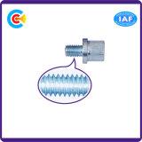 Acier du carbone de dispositif de fixation 4.8/8.8/10.9 vis principales hexagonales galvanisées personnalisées cylindrique/fromage