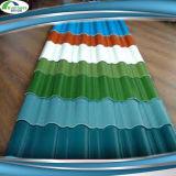 Azulejos de material para techos acanalados del metal de hoja del precio competitivo