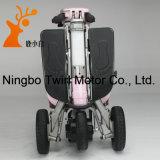 Vespa plegable de Electir del color rosado de tres ruedas