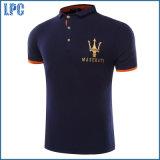 La chemise de polo promotionnelle estampée par logo fait sur commande d'usine