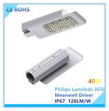 Ultra-Dünne 40W Philips Lumileds LED Straßenbeleuchtung mit Cer RoHS Bescheinigung