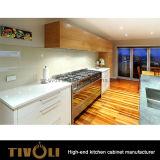 Cabinas de cocina blancas de la pintura de la chapa prefabricada de las cabinas Tivo-0144V