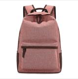 Zaino casuale del computer portatile dell'istituto universitario del sacchetto di banco della tela di canapa per l'allievo