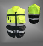 Chaleco y chaqueta de seguridad reflectante de seguridad con multi bolsillo