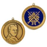 Lo stile antico la medaglia del premio della polizia della pressofusione 3D