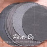 Cerchio/maglia su ordine dell'acciaio inossidabile del filtrante della tela metallica filtri a disco (304 o 316), Electropolished