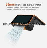 Terminal inteligente todo en uno Zkc PC900, PDA portátil con impresora térmica de 58 mm