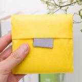 Da forma reusável feita sob encomenda do logotipo do punho saco de compra de nylon Foldable da tela