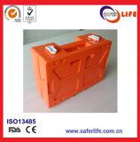 Saferlife 의학 플라스틱 빈 작은 녹색 응급조치 상자 10 사람 장비 구급 상자