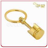 De hete Sleutelring van het Metaal van de Zuiger van de Kwaliteit van de Verkoop Beste Goud Geplateerde