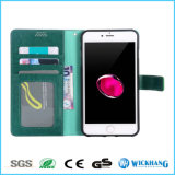 Caso del tirón del cuero de la PU para el iPhone Samsung LG Huawei con el capítulo de la foto