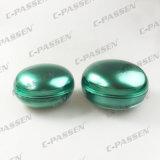 Vaso crema acrilico verde di lusso per l'imballaggio dell'estetica (PPC-NEW-064)