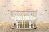 Pesebre redondo del metal de Furntire de los niños de Furntiure del bebé de la choza convertible convertible de madera del pesebre