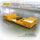 Veicolo a base piatta di trasferimento della Traversa-Baia per uso di industria montato sulle rotaie