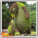 Hierba artificial del Topiary del boj de las plantas Shaped animales