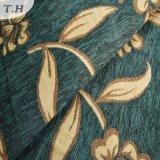 녹색 피복 황금 자카드 직물 셔닐 실 고급 직물 (FTH31225)